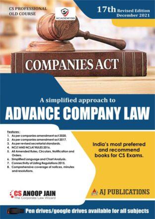 Advance Company Law Practice Anoop Jain CS Professional