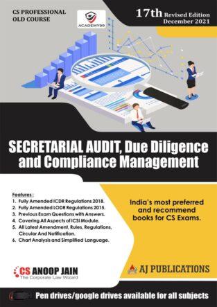 CS Professional Secretarial Audit Due Diligence Compliance Anoop Jain