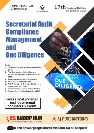 CS Professional Programme Secretarial Audit Compliance Anoop Jain