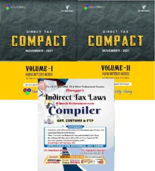 CA Final Combo DT Compact And IDT Compiler By Bhanwar Borana