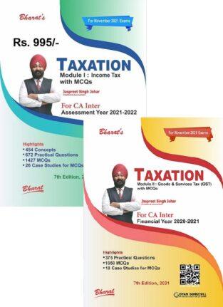 Bharat CA Inter Taxation Jaspreet S Johar CA Inter