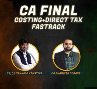 Combo CA Final DT Costing Fastrack Bhanwar Borana Sankalp Kanstiya