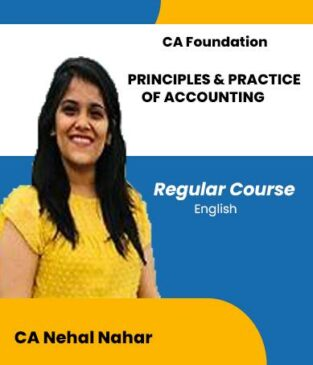 Video Lecture CA Foun Principles Practice Accounting CA Nehal Nahar