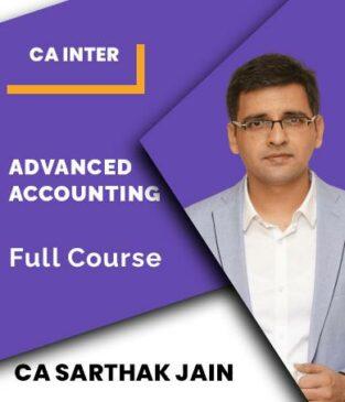 Video Lecture CA Inter Advanced Accounting New Syllabus Sarthak Jain