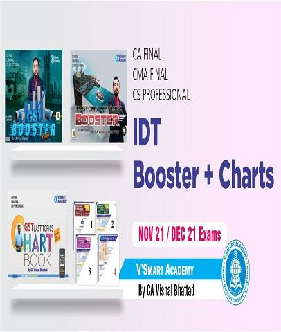 CA Final IDT Booster and Charts Book Set By CA Vishal Bhattad