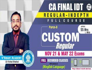 VSmart Video Lecture CA Final Custom FTP CA Vishal Bhattad