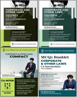 CA Inter Corporate & Other Laws and Compact By CA Harsh Gupta