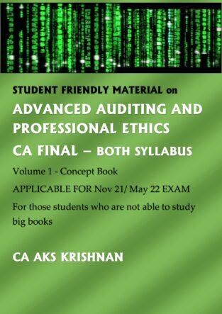 Advanced Auditing And Professional Ethics CA AKS Krishnan
