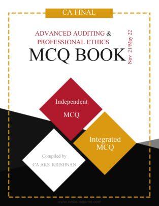 CA Final Audit MCQ Question Bank Syllabus By CA AKS Krishnan