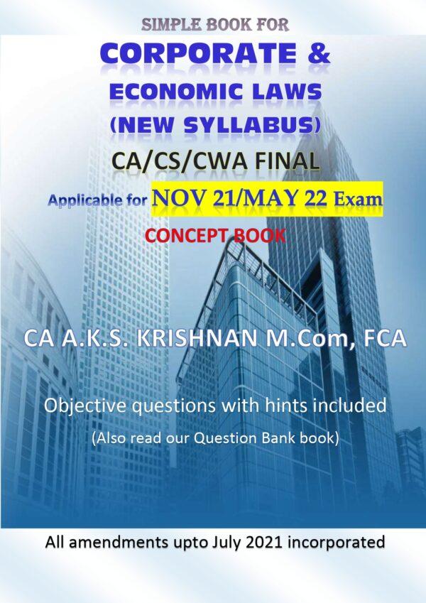 Corporate & Economic Laws New CA Final CA AKS Krishnan CA Final