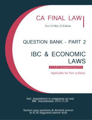IBC & Economic Laws Question Bank Part 2 CA AKS Krishnan