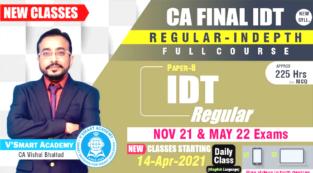 Video Lecture CA Final IDT GST Custom Regular Course Vishal Bhattad