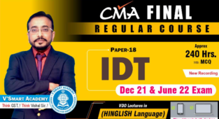 VSmart Video Lecture CMA Final IDT Full Course By CA Vishal Bhattad
