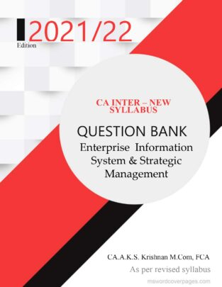 CA inter EIS SM Question Bank New Syllabus By CA AKS Krishnan