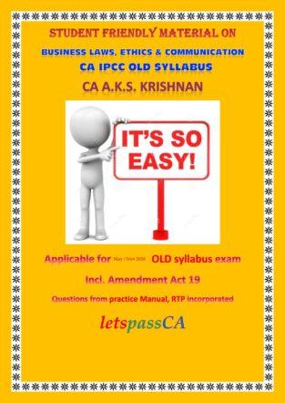 Student Friendly Business Laws Ethics Communication CA AKS Krishnan