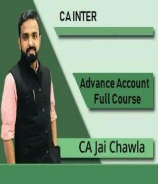 Video Lecture CA Inter Advance Accounts By CA Jai Chawla