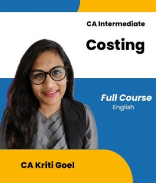 Video Lecture CA Inter Cost & Management Accounting Kriti Goel