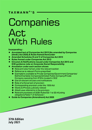 Companies Act and Rules Hardbound Pocket Edition