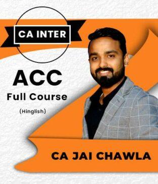 Jai Chawla Video Lecture CA Inter Advanced Accounts Regular Batch