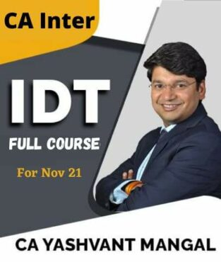 Video Lecture CA Inter Indirect Tax laws Full Course By Yashvant Mangal