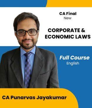 Video Lecture CA Final Corporate & Economic Laws Punarvas Jayakumar