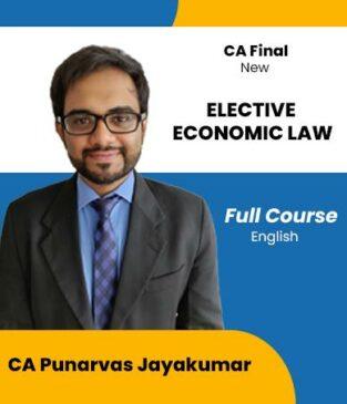 Video Lecture CA Final Economic Laws Punarvas Jayakumar