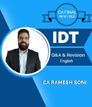 Video Lecture CA Final Indirect Tax Laws Regular By Ramesh Soni