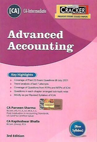 Taxmann CA Inter Cracker Advanced Accounting Parveen Sharma