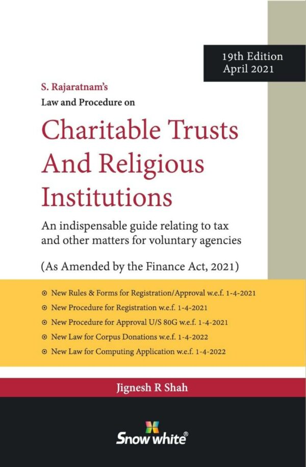 Snow White Charitable Trusts Religious Institutions By S Rajaratnam