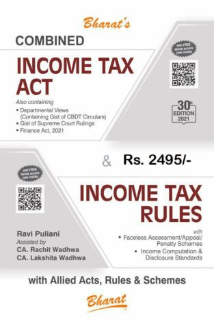 Bharat Combined Income Tax Act & Income Tax Rules By Ravi Puliitani