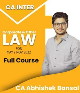 Video Lecture CA Inter Law Full Course New Syllabus By Abhishek Bansal