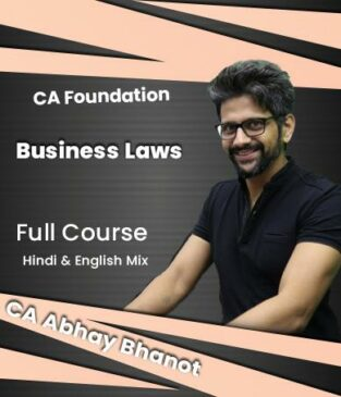 Video Lectures CA Foundation Business Laws By CA Abhay Bhanot