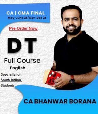 Video Lecture CA / CMA Final Direct Tax English By CA Bhanwar Borana