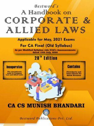 Bestword CA Final Law Handbook Old Syllabus By CA Munish Bhandari