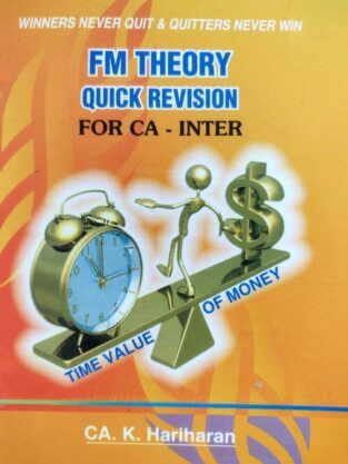 CA Inter FM Theory Quick Revision Pocket Sized By CA K Hariharan