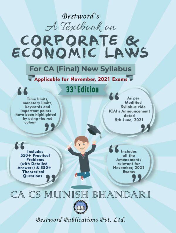 CA Final Corporate And Economic Laws By Munish Bhandari