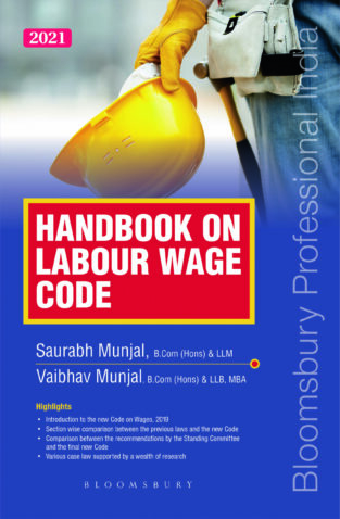Bloomsbury Handbook on Labour Wage Code By Saurabh Munjal