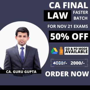 Video Lecture CA Final Law Fast Track New Syllabus By CA Guru Gupta