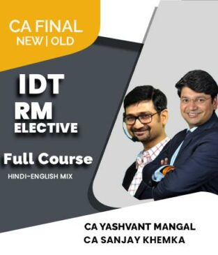 Video Lecture Combo CA Final New IDT and Elective Risk Management