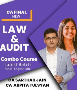 Video Lecture CA Final Audit Law By CA Sarthak Jain CA Arpita Tulsyan