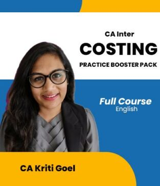 Video Lecture CA Inter Costing Practice Booster Pack By CA Kriti Goel