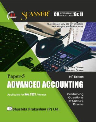 Shuchita Scanner CA Intermediate Advanced Accounting Regular Edition