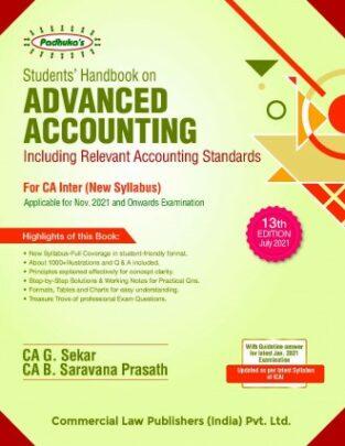 Padhuka Advance Accounting CA Inter G Sekar B Sarvana Prasath