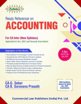 CA Inter Padhuka Ready Referencer on Accounting By G Sekar