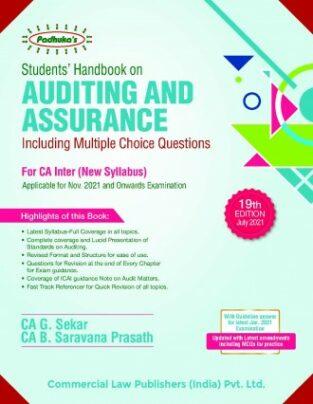 Commercial Padhuka Students Auditing Assurance New Syllabus G Sekar