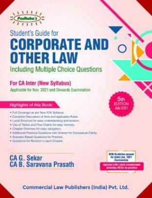 Corporate and Other Law G Sekar B Saravana Prasath CA Inter