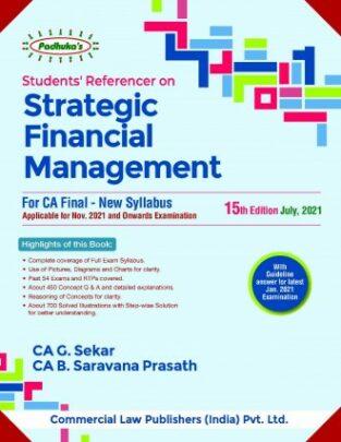 Padhuka Students Referencer on Strategic Financial Management G Sekar