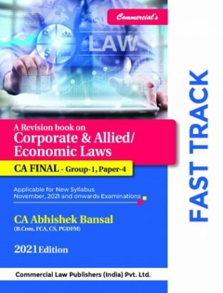Commercial CA Final Laws Fast Track Charts New By Abhishek Bansal