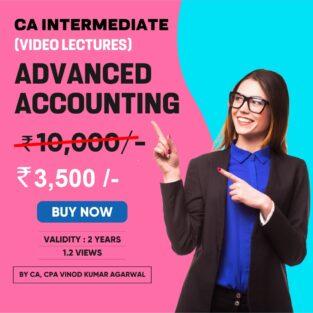 Video Lecture CA Inter Adva Accounting New By Vinod Kumar Agarwal