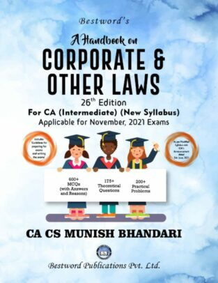 Bestword CA Inter Handbook Corporate Laws Munish Bhandari